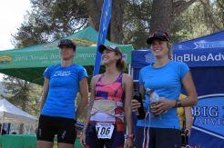 Women's overall podium
