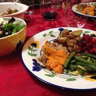 Vegetarian Christmas dinner