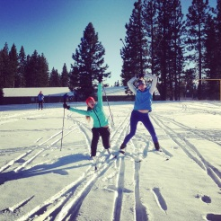 Haley and Zoe are SO excited for their first ski of the year!