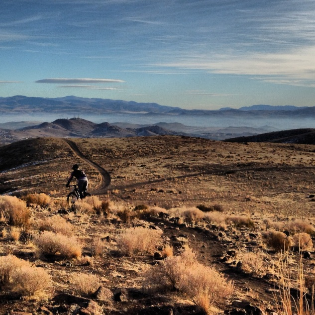 Perfect mid-winter trails in Reno.
