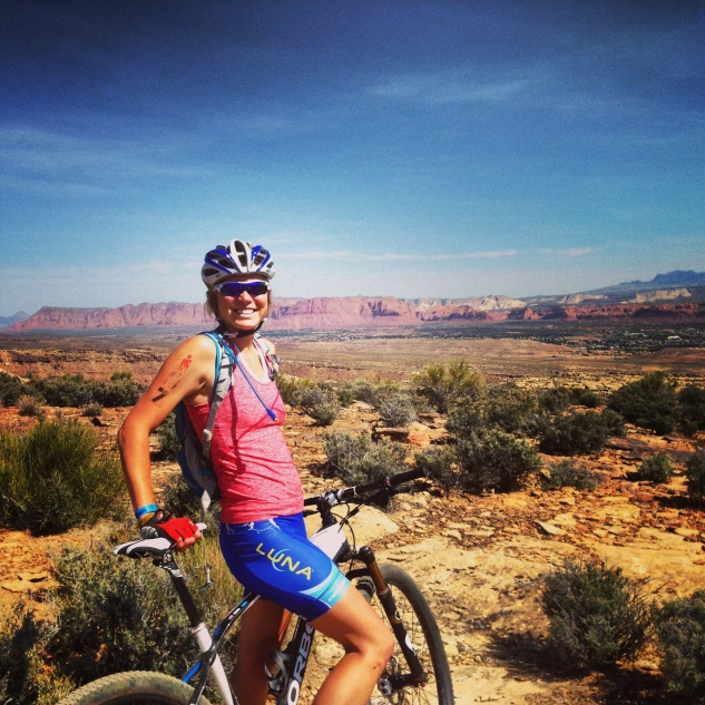 Enjoying some post-race MTB time! Photo by August Teague.