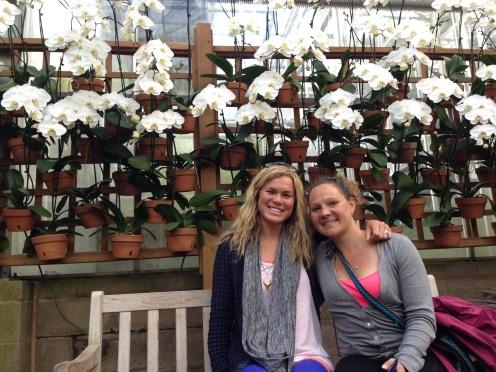 Lindsay and I at the Atlanta Botanical Gardens