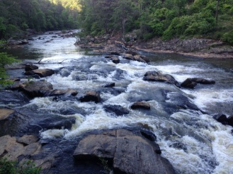 The view from our run at Sweetwater Park outside of Atlanta