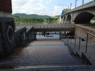 Chattanooga, TN - downtown set along the river