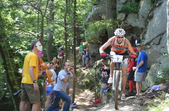 "Another perspective of the ""party crowd."" Pro Josiah Middaugh handled it much better than me! Photo courtesy of Xterra."