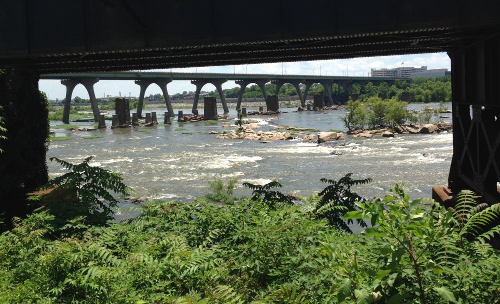 Swim site at the James River