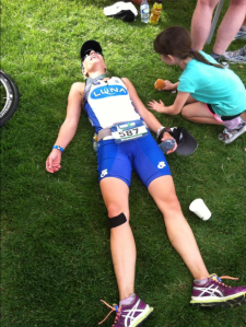 I totally stole this pic from Boise LUNA Chix member Shannon. This is her post-race, but I felt EXACTLY the same!