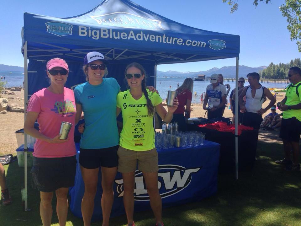 Overall women's podium Xterra Tahoe City