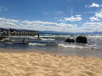 Lake Tahoe beach time