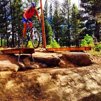 Skills work at the Truckee bike park! Conquering fears and having a blast!