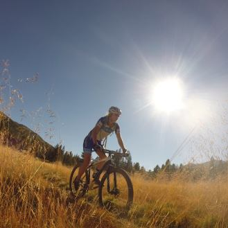 Golden hour riding in the late summer light