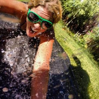 Backyard waterslide!