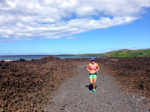 Nice HOT interval training run on the King Trail near Kihei