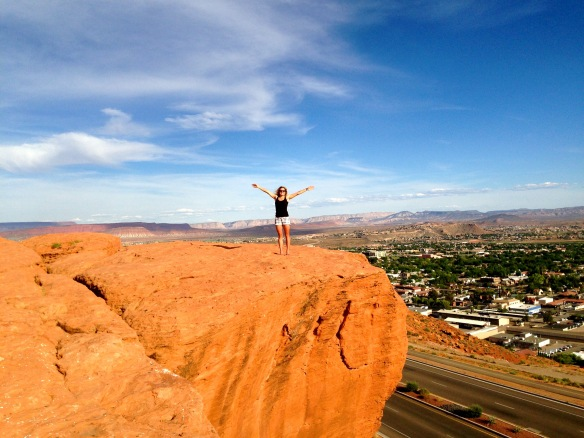 Taking in the St. George views from above! Run course right below...