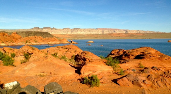 The BEAUTIFUL swim site at Sand Hollow (and also our campsite for the week!)