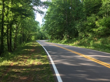 Quiet country roads make for awesome road biking in North Georgia (complete with views of the Chattahoochee River!)