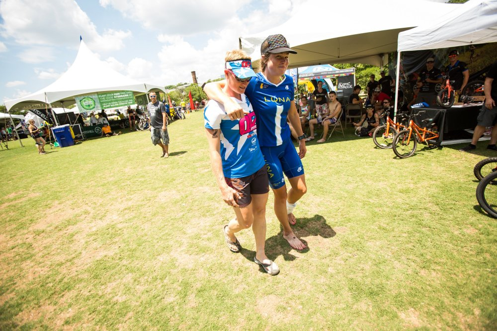 This girl has truly helped me achieve this goal in so many ways -- only fitting that she should walk me up to the podium! Photo by Jesse Peters / Courtesy of Xterra