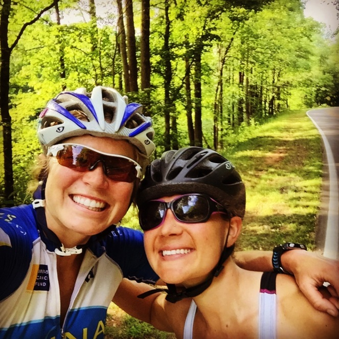 Still smiling on a long, HOT road ride