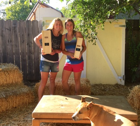 Woohoo, we got wine! So special to share the day with my sister, who won her division in the half aquabike!