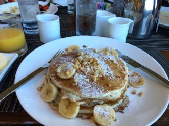 Banana macadamia nut pancakes = mandatory when in Maui