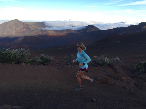 Checking out the Haleakala trails the day after the race
