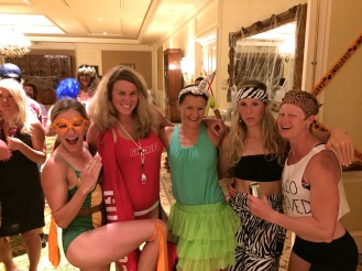 I LOVE these ladies! Dancing the night away at the post-race Halloween party.