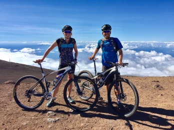 After the race, we summited Mt. Haleakala on our bikes!