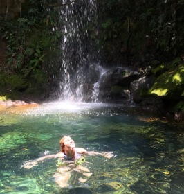 Enjoying some sunshine and waterfalls in Costa Rica!